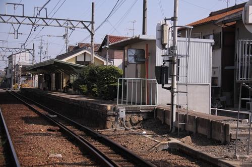 馬道駅阿下喜方面ホーム西桑名方面