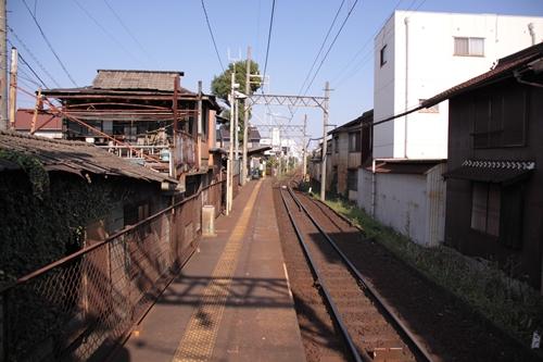 赤堀駅ホーム近鉄四日市方面