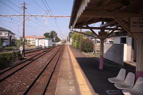 日永駅1番線ホーム近鉄四日市方面