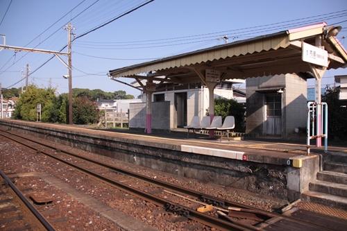 日永駅1番線ホーム全景