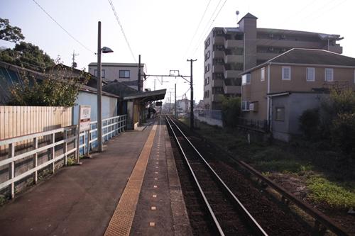 南日永駅ホーム内部方面