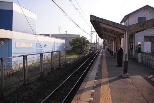 追分駅ホーム近鉄四日市方面