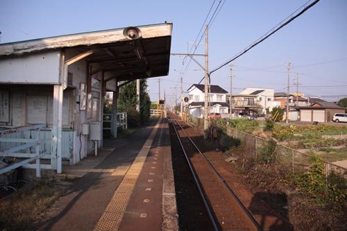 小古曽駅ホーム近鉄四日市方面