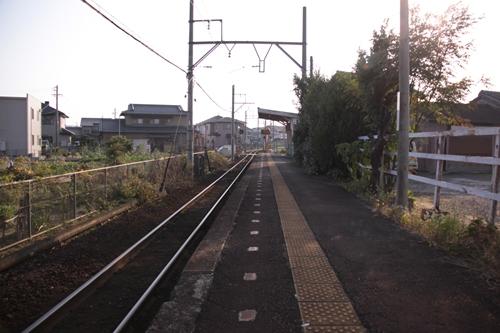 小古曽駅ホーム内部方面