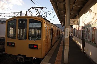 貴生川駅ホーム1番線八日市方面