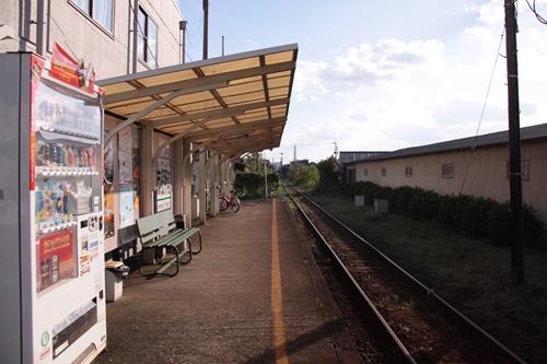 紀州鉄道線市役所前駅ホーム日高川方面