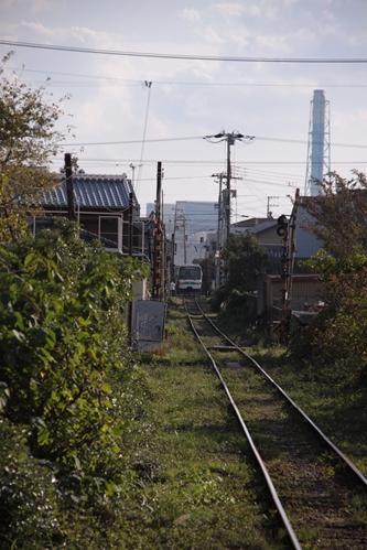 市役所前駅から日高川駅を望む