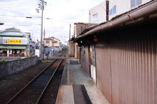 紀州鉄道線西御坊駅ホーム御坊方面