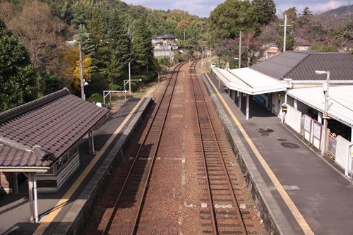 栗田駅跨線橋からの眺め