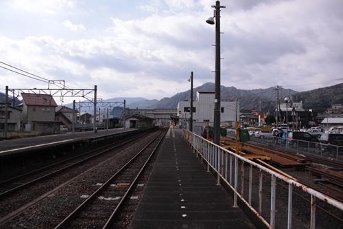 宮津駅1番線ホーム西舞鶴方面