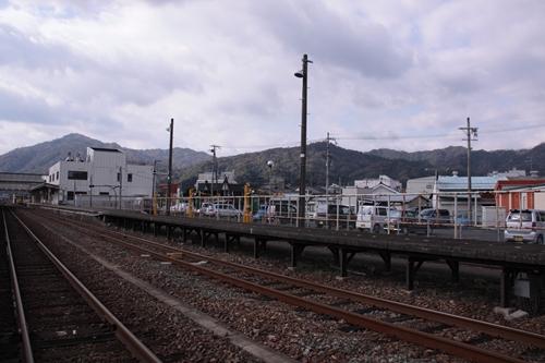 宮津駅1番線ホーム全景
