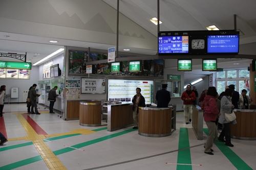 宇奈月駅改札