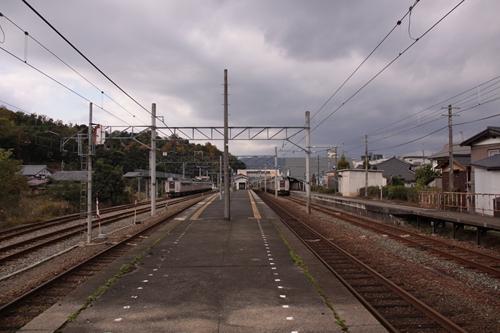 天橋立駅2番線・3番線ホーム豊岡方面