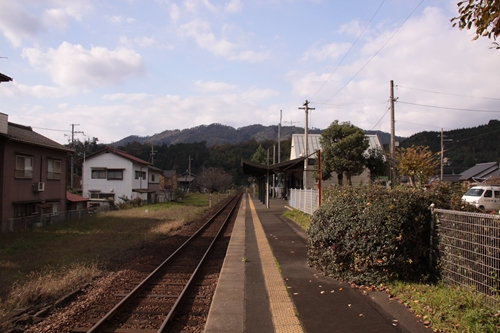岩滝口駅ホーム豊岡方面