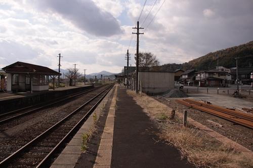 野田川駅1番線ホーム豊岡方面