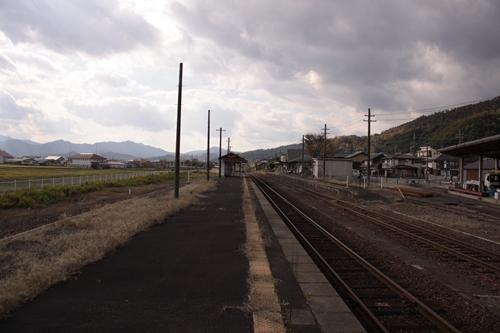 野田川駅2番線・3番線ホーム豊岡方面