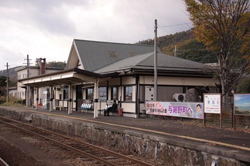 野田川駅2番線・3番線ホーム駅舎