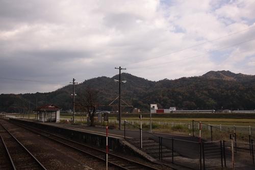 野田川駅2番線・3番線ホーム全景その2