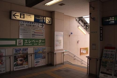 篠ノ井駅しなの鉄道線入口