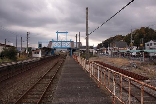 峰山駅1番線ホーム西舞鶴方面