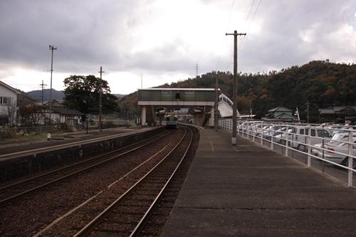 網野駅1番線ホーム西舞鶴方面
