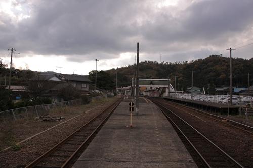 網野駅2番線・3番線ホーム豊岡方面