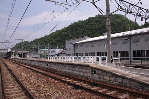 屋代駅2番線・3番線ホーム全景