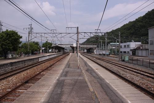 屋代駅2番線・3番線ホーム篠ノ井方面