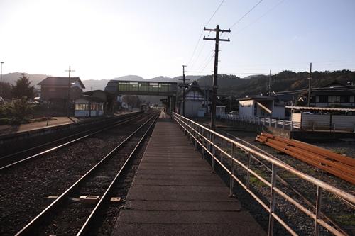 久美浜駅1番線ホーム豊岡方面