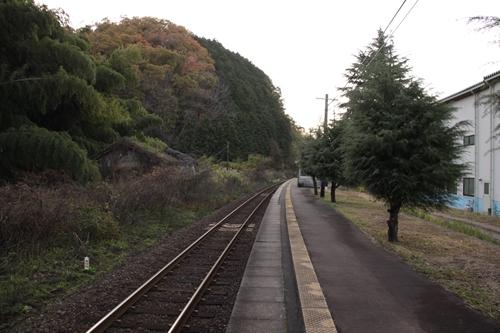 丹波三江駅ホーム豊岡方面