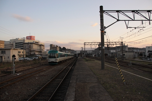 豊岡駅ホーム豊岡方面