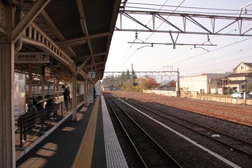 樽見鉄道大垣駅ホーム大垣方面