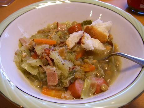 レンズ豆コンソメスープ