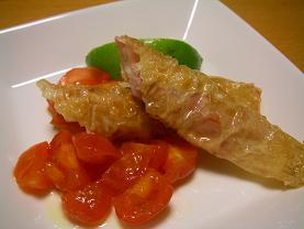 湯葉揚げトマト