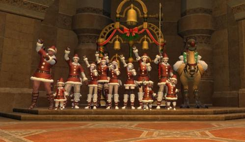 FFXIV クリスマスイベントLSのみんなで記念撮影