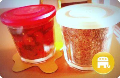 お手製バジルの粉 プチトマトのオリーブオイル漬け