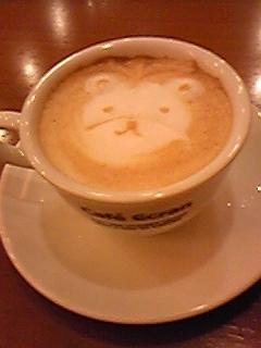カフェラテのくま