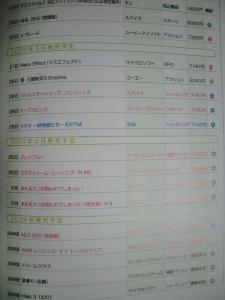 発売リスト