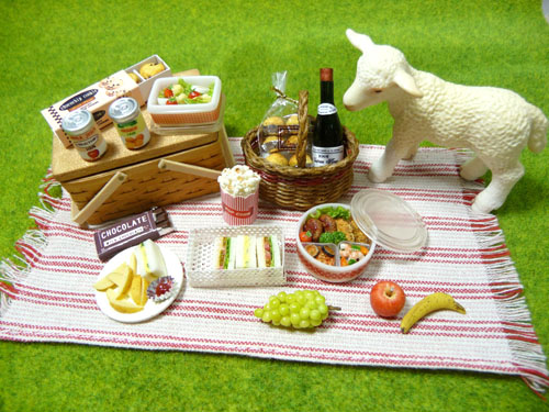 ドールハウス ミニチュア ピクニック ワイン 手作り
