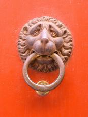 トイレに行きたそうなライオン