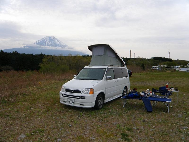 fielddeck と愛犬と富士山