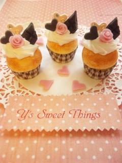 ロマンティック系カップケーキ