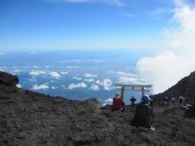 富士山頂上より