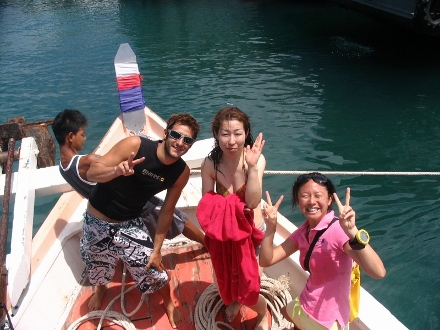 タオ島 ダイビング ボート上
