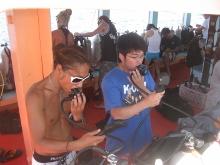 タオ島ダイビング 講習 ボート