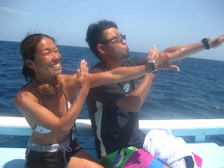 タオ島 ダイビング ボート ダイバー バラクーダ