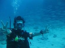 タオ島 ダイビング 講習 水中