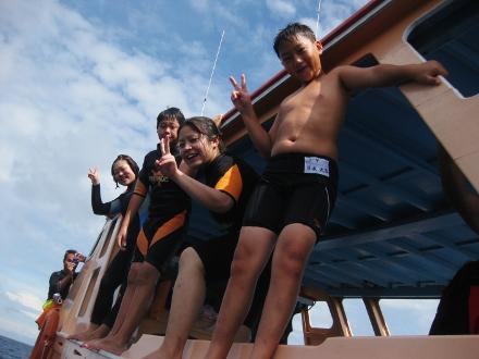 タオ島 ダイビング ボートジャンプ大会