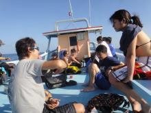 タオ島ダイビング 15apr ボート