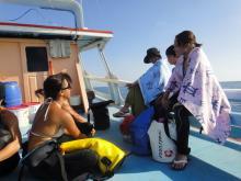 タオ島ダイビング 15aprボート①